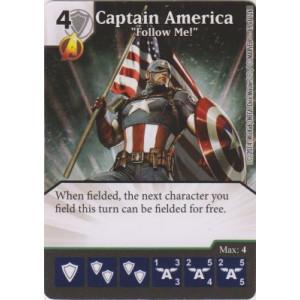 Captain America - Follow Me! (Die  & Card Combo)