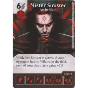 Mister Sinister - Archvillain (Die  & Card Combo)