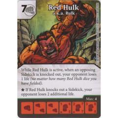 Red Hulk - a.k.a. Rulk (Die  & Card Combo)
