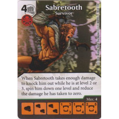 Sabretooth - Survivor (Die  & Card Combo)