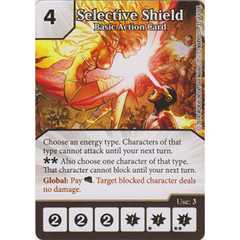 Selective Shield - Basic Action Card (Die  & Card Combo)