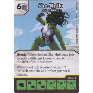 She-Hulk - Superhero (Die  & Card Combo)