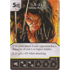 X-23 - Killing Machine (Die  & Card Combo)