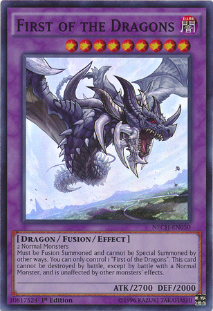 First of the Dragons - NECH-EN050 - Super Rare - 1st Edition