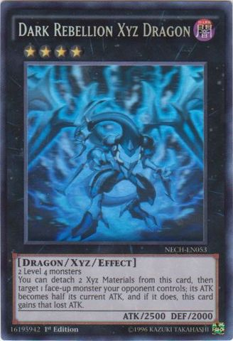 Dark Rebellion Xyz Dragon - NECH-EN053 - Ghost Rare - 1st Edition