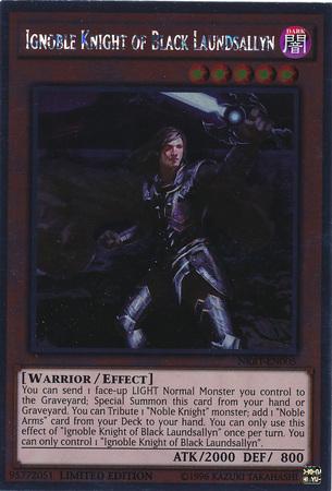 Ignoble Knight of Black Laundsallyn - NKRT-EN005 - Platinum Rare - Limited Edition