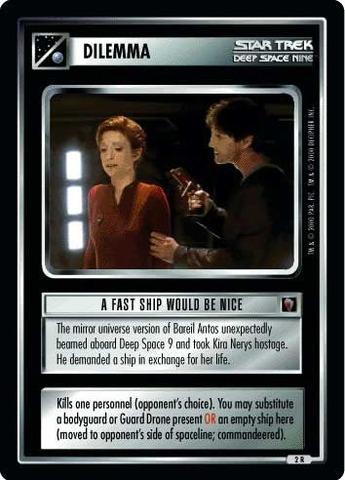 Mirror Star Trek: A Fast Ship Would Be Nice Mirror STCCG Decip Mint//Near Mint