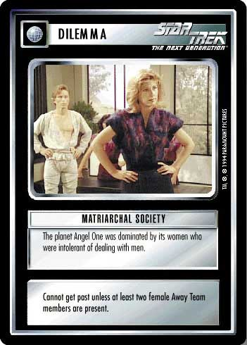 Matriarchal Society - Star Trek CCG 1E » 1E Premiere Limited BB
