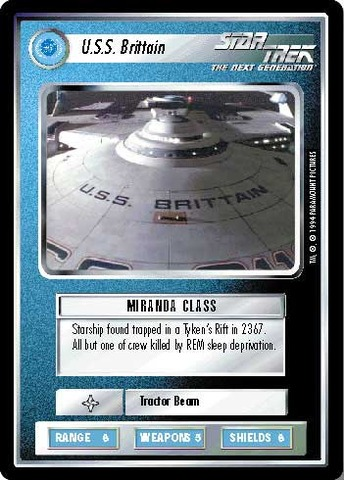 U.S.S Britain Star Trek CCG Unlimited