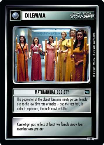 Matriarchal Society - Star Trek CCG 1E » Voyager - CategoryOneGames