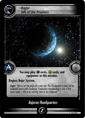 Bajor, Gift of the Prophets
