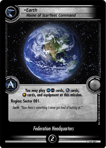 Earth, Home of Starfleet Command