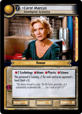 Carol Marcus, Intelligent Scientist