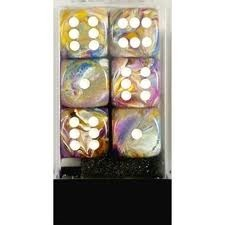 12 16mm Festive Carousel w/White D6 Dice Set - CHX27640