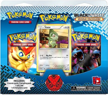 Pokemon Black & White BW3 Noble Victories 3-Booster Blister Pack - Axew