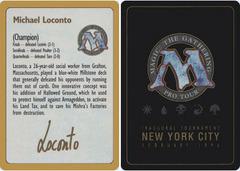 1996 Michael Loconto Biography Card