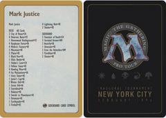 1996 Mark Justice Decklist Card