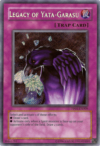Legacy of Yata-Garasu - Secret Rare - PP01-EN009 - Secret Rare - Unlimited Edition