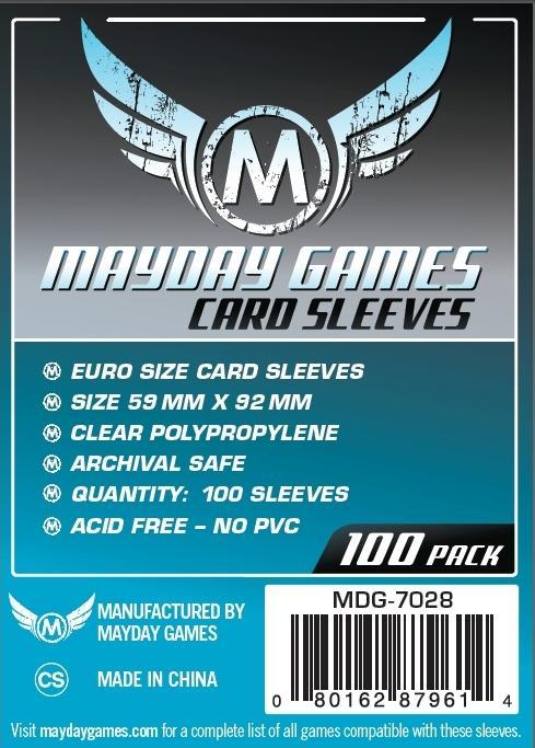 Mayday Games Euro Game Card Sleeves 100ct