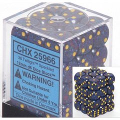 36 Twilight Speckled 12mm D6 Dice Block - CHX25966