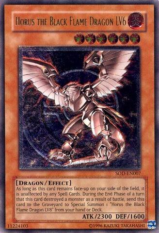 Horus the Black Flame Dragon LV6 - SOD-EN007 - Ultimate Rare - 1st Edition