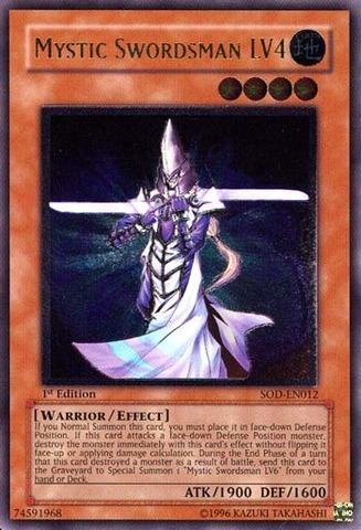 Mystic Swordsman LV4 - Ultimate - SOD-EN012 - Ultimate Rare - 1st