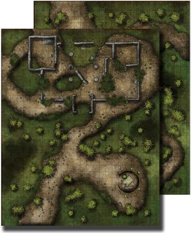 GameMastery Flip-Mat: Swamp