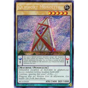 SECE-EN020 - Qliphort Monolith - Secret Rare - 1st Edition