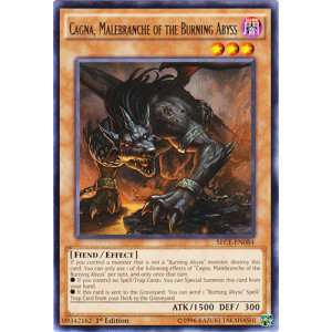 MINT YU-GI-OH Libic RARE 1ST Malebranche of the Burning Abyss SECE-EN083
