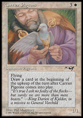Carrier Pigeons (2) on Channel Fireball