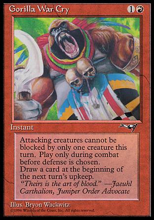 Gorilla War Cry (Colorful Headdress)