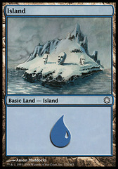 Island (374 - Snow Covered Island Art)