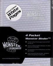 Monster Protectors 4 Pocket White Holofoil w/White Sleeves Binder
