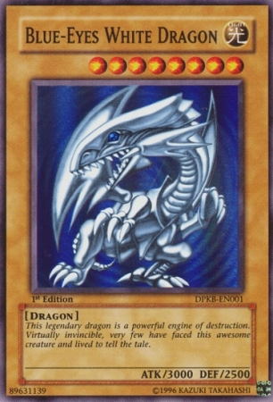 Blue-Eyes White Dragon - DPKB-EN001 - Super Rare - 1st Edition