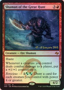 Shaman of the Great Hunt - Foil - Prerelease Promo