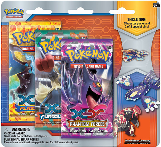 Primal Reversion Collectors Pin 3-Pack Blister - Kyogre