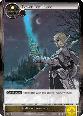 Force Of Will Knights Of The Round Table.Power From Inside 1 031 C Force Of Will Singles Starter Deck