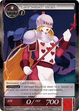 Card Soldier Heart - TAT-022 - C - 1st Printing