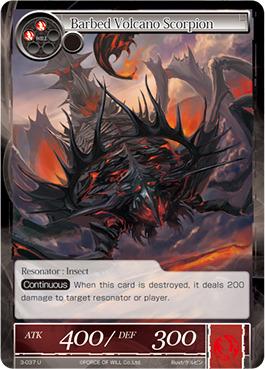 Barbed Volcano Scorpion - 3-037 - U