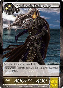 Force Of Will Knights Of The Round Table.Mordred The Dueling Knight 1 010 U Card Games Cg