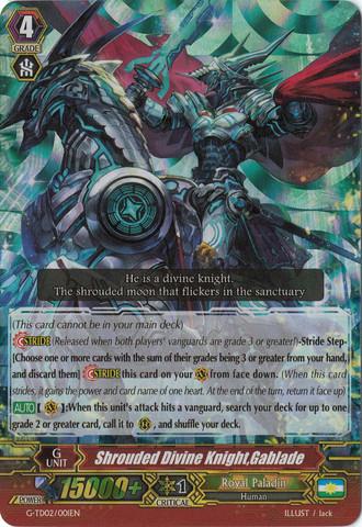 Shrouded Divine Knight, Gablade - G-TD02/001EN (RRR)