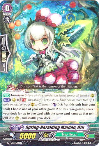 Spring-Heralding Maiden, Ozu - G-TD03/014EN