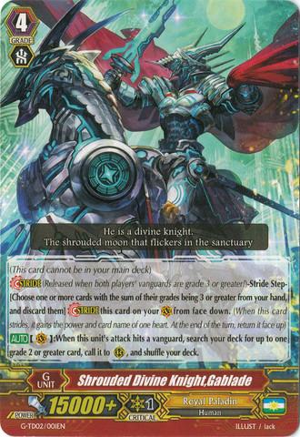 Shrouded Divine Knight, Gablade - G-TD02/001EN (C)