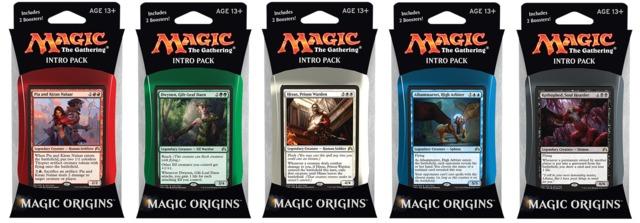 MTG Magic Origins Intro Packs: Set of 5
