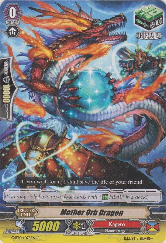 Dragon Wheel of Fate RR g-bt01 Cardfight Vanguard