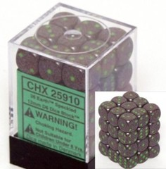 36 Earth Speckled 12mm D6 Dice Set - CHX25910