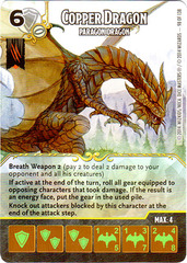 Copper Dragon - Paragon Dragon (Die & Card Combo)