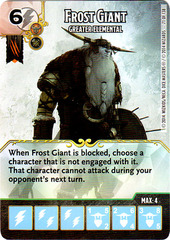 Frost Giant - Greater Elemental (Die & Card Combo)
