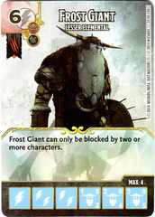 Frost Giant - Lesser Elemental (Die & Card Combo)