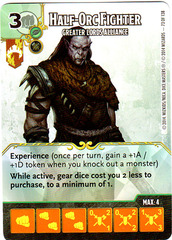 Half-Orc Fighter - Greater Lords Alliance (Die & Card Combo)